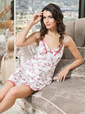 Ночная сорочка MIA-MELLA. Цвет: молочный