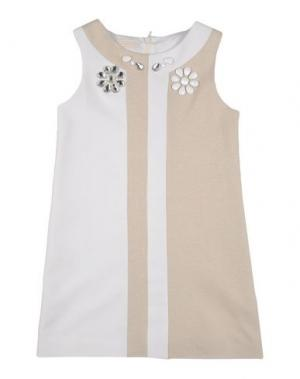 Платье I PINCO PALLINO I&S CAVALLERI. Цвет: бежевый