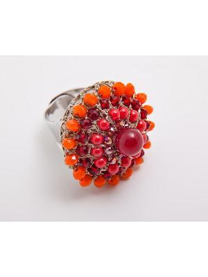 Кольцо Kameo-bis. Цвет: красный, оранжевый