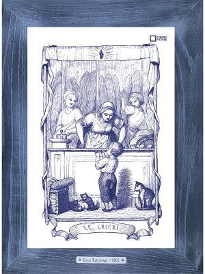 Картина-сувенир Louis Ratisbonne Le Cricri Ceramic Picture. Цвет: темно-синий, темно-фиолетовый, темно-серый