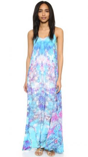 Макси-платье Mosaic с карманом Lotta Stensson. Цвет: мозаика