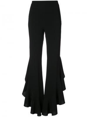 Расклешенные брюки с оборками Cinq A Sept. Цвет: чёрный
