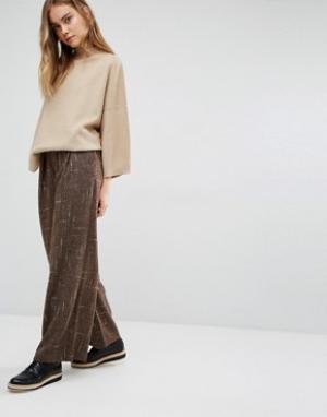 Paisie Брюки с широкими штанинами и кожаным поясом. Цвет: коричневый