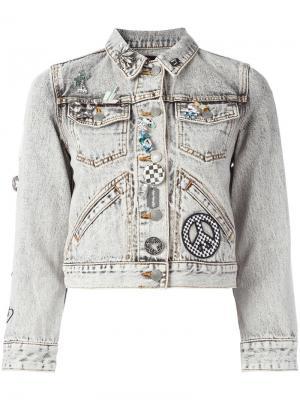 Декорированная джинсовая куртка Marc Jacobs. Цвет: чёрный