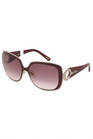 Очки солнцезащитные Chopard. Цвет: коричневый