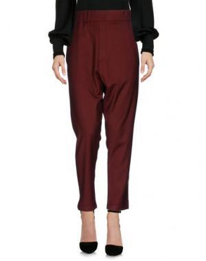 Повседневные брюки DENIM DELUXE. Цвет: красно-коричневый