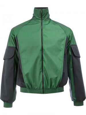 Куртка с контрастными рукавами Cottweiler. Цвет: зелёный