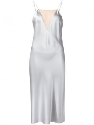 Платье с прозрачной панелью Fleur Du Mal. Цвет: металлический