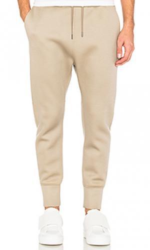 Спортивные брюки с молнией внизу Helmut Lang. Цвет: беж