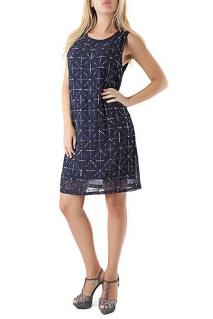 Платье Cristina Gavioli. Цвет: синий