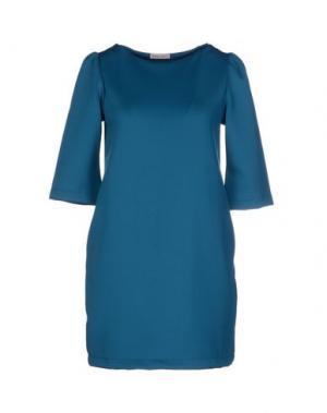 Короткое платье DANIELA FARGION. Цвет: грифельно-синий