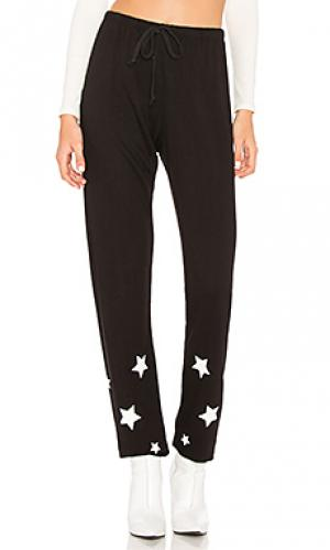 Спортивные брюки stars Spiritual Gangster. Цвет: черный