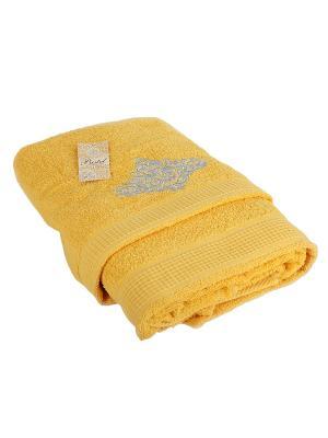 Комплект полотенец 2 предмета (50х90,70х140) Silver La Pastel. Цвет: желтый
