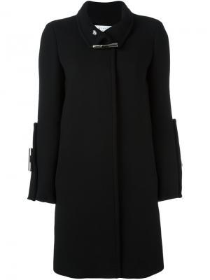 Однобортное пальто с застежкой-тогл Gianluca Capannolo. Цвет: чёрный