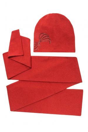 Комплект из шерсти с кристаллами Swarovski (шапка и шарф) 154751 Anna Jollini