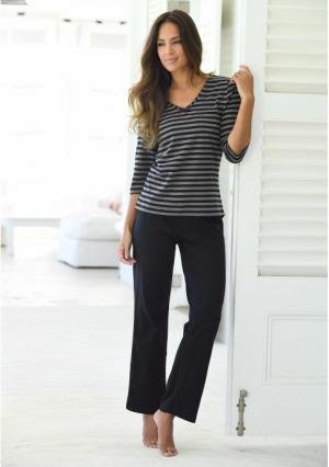 Пижама H.I.S.. Цвет: коралловый/серый меланжевый в полоску, синий/бирюзовый в полоску, черный/серо-коричневый в полоску