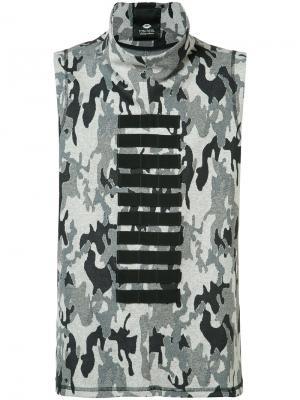 Камуфляжная рубашка Tom Rebl. Цвет: серый