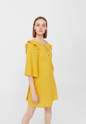 Платье Mango. Цвет: желтый
