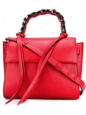 Маленькая сумка-тоут Angel Sensua Elena Ghisellini. Цвет: красный