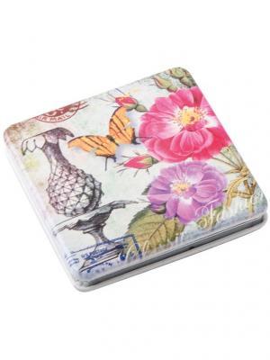 Зеркало Классическая мода карманное круглое Dewal. Цвет: розовый, белый, черный