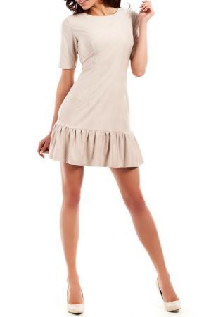 Платье Moe. Цвет: бежевый