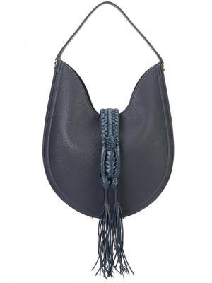 Сумка на плечо с кисточками Altuzarra. Цвет: синий
