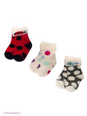 Носки PERA MAYA. Цвет: бежевый, красный, темно-серый