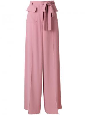 Расклешенные широкие брюки Valentino. Цвет: none