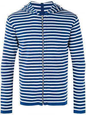 Кофта на молнии с капюшоном Passage S.N.S. Herning. Цвет: синий