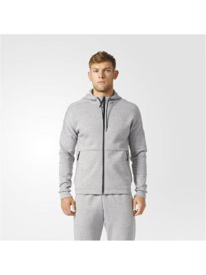 Толстовка ID STADIUM FZ  MGSOGR Adidas. Цвет: серый