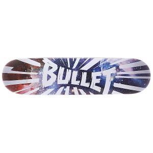 Дека для скейтборда  S5 Shrapnel Space 31.5 x 7.6 (19.3 см) Bullet. Цвет: белый,мультиколор
