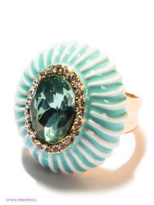 Кольцо Bijoux Land. Цвет: светло-зеленый, голубой, золотистый