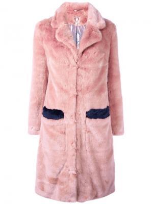 Пальто Claude Shrimps. Цвет: розовый и фиолетовый