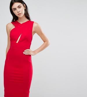 Taller Than Your Average Платье-футляр миди без рукавов TTYA. Цвет: красный