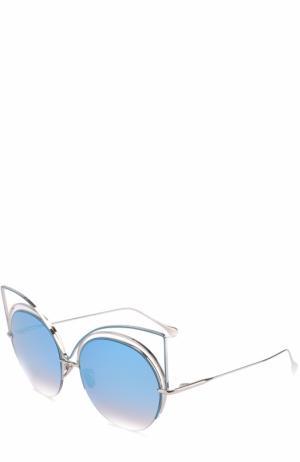 Солнцезащитные очки Frency&Mercury. Цвет: голубой