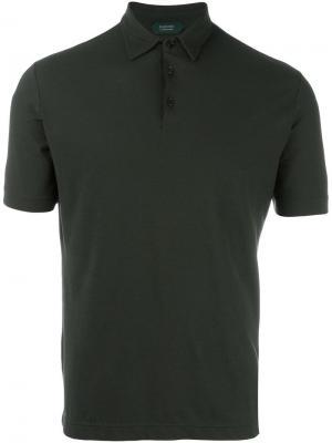 Shortsleeved polo shirt Zanone. Цвет: зелёный