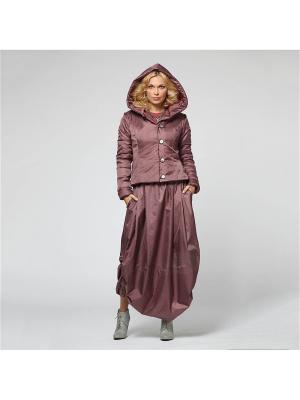 Костюм: юбка, куртка KATA BINSKA. Цвет: бордовый