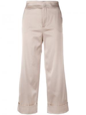 Широкие укороченные брюки Pt01. Цвет: телесный