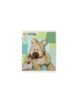 Тетрадь в клетку Мишка Тедди, 48 листов, 5 шт. Альт. Цвет: серо-зеленый, бледно-розовый, хаки