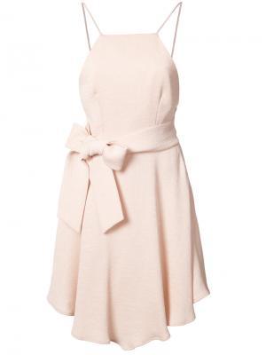 Платье с бантом C/Meo. Цвет: розовый и фиолетовый