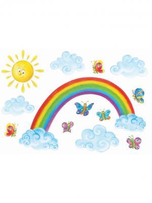 Набор наклеек  Радуга , 13 шт DECORETTO. Цвет: белый, зеленый, голубой, оранжевый, желтый