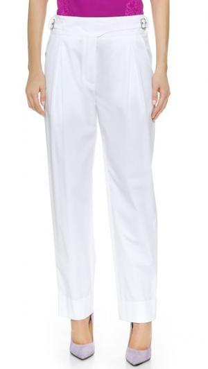 Прямые брюки Nina Ricci. Цвет: белый