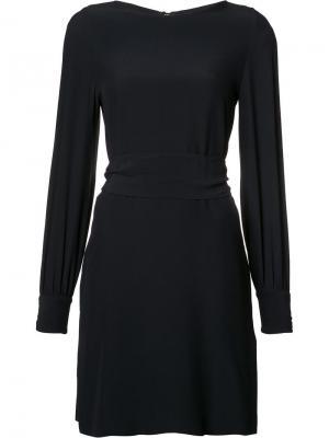 Платье с разрезами на рукавах Vanessa Seward. Цвет: синий