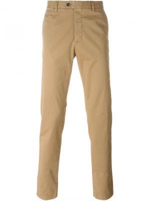 Классические брюки-чинос Fay. Цвет: телесный