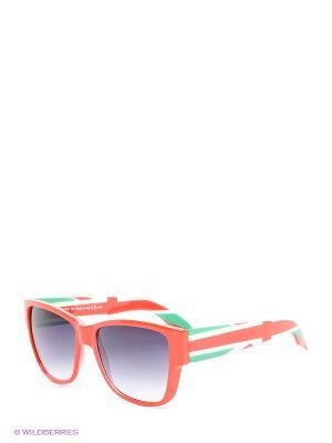 Солнцезащитные очки Franco Sordelli. Цвет: зеленый, красный, черный