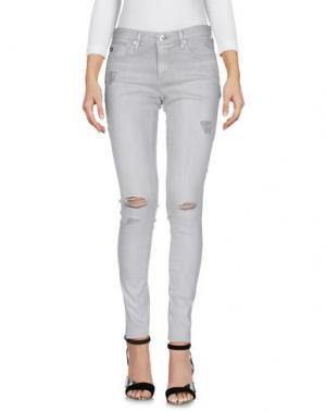 Джинсовые брюки AG ADRIANO GOLDSCHMIED. Цвет: светло-серый