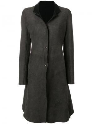 Пальто со вставками Isaac Sellam Experience. Цвет: серый