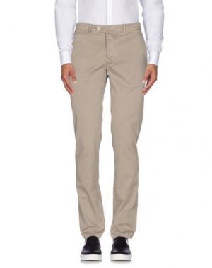 Повседневные брюки PIATTO. Цвет: голубиный серый