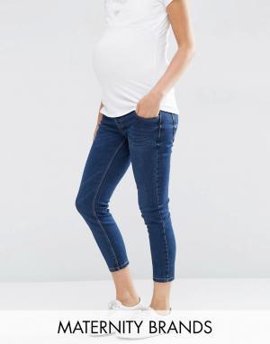 New Look Maternity Джинсы для беременных Authentic. Цвет: темно-синий
