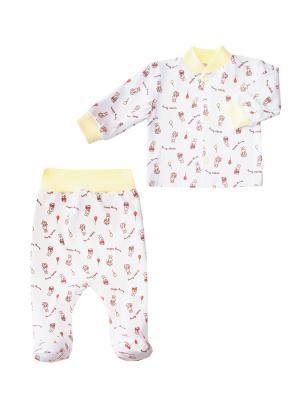 Комплект одежды: кофточка, ползунки Коллекция Happy Bunny КОТМАРКОТ. Цвет: желтый